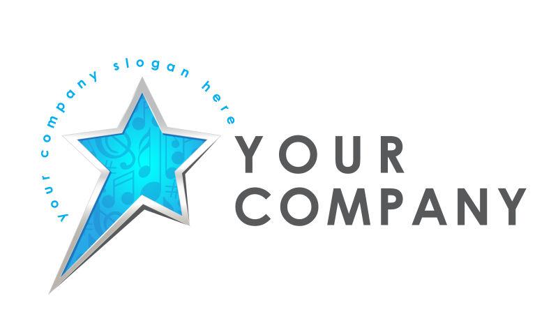 矢量蓝色星星logo设计