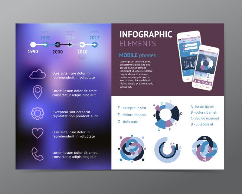 手机宣传图表矢量设计