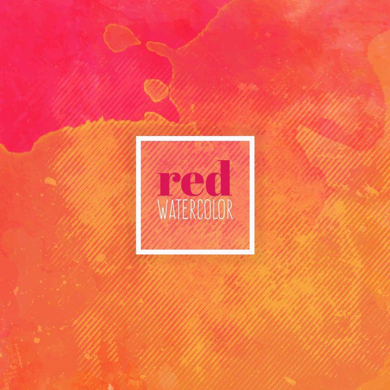 抽象矢量红色水彩元素的背景