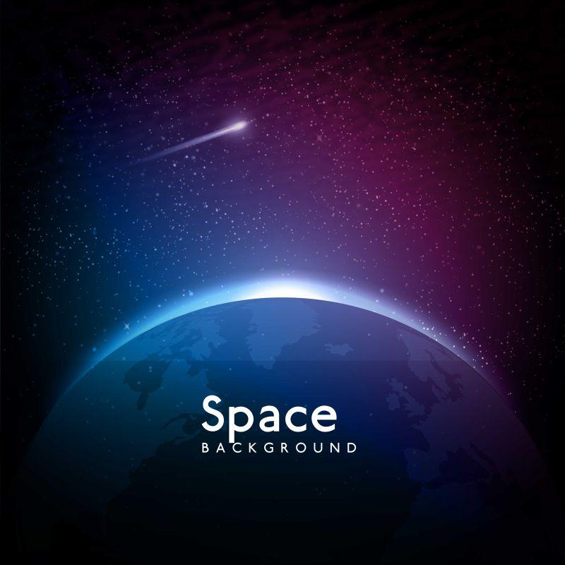 矢量抽象太空空间背景