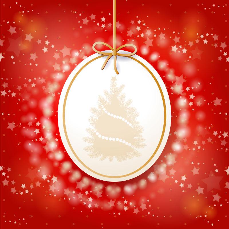 矢量圣诞树宣传背景