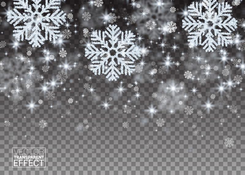 圣诞银色雪花矢量背景
