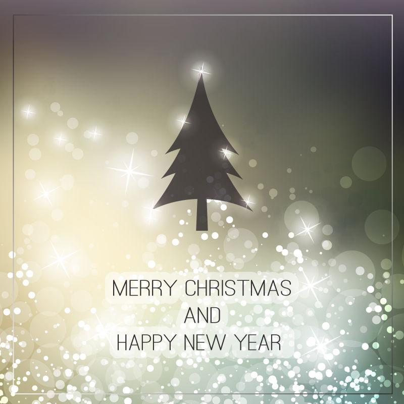 矢量创意圣诞树贺卡背景设计