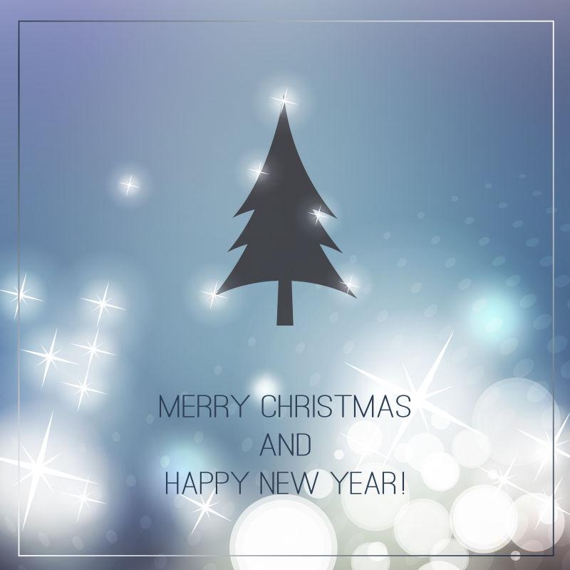 矢量抽象圣诞贺卡背景设计