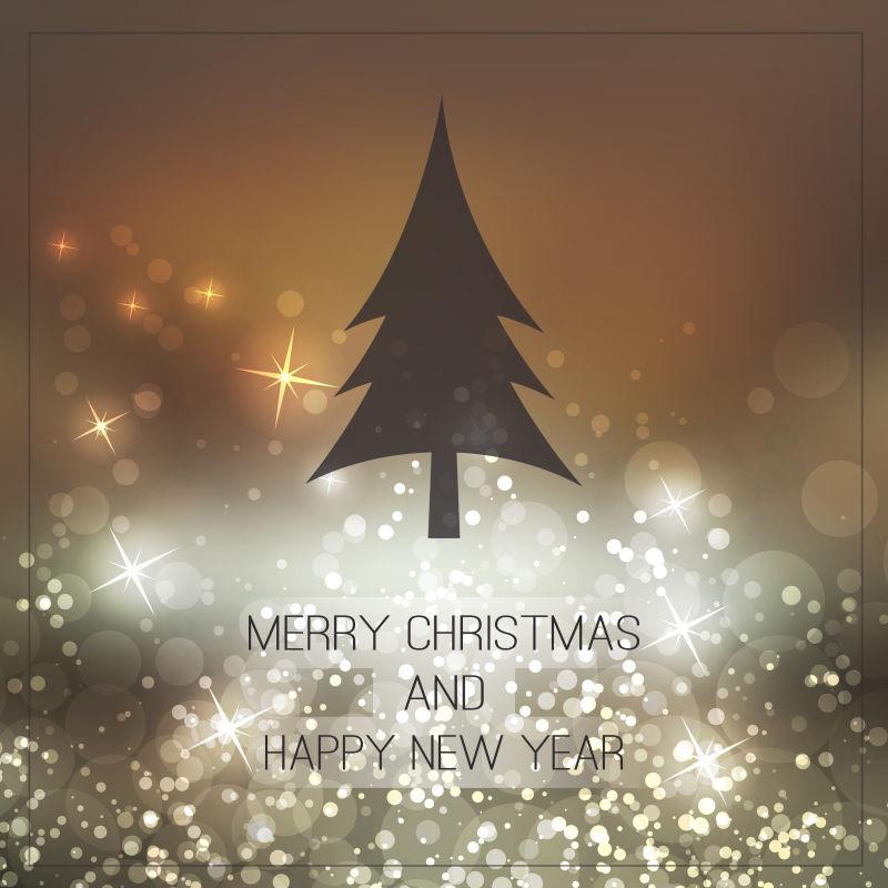 矢量圣诞新年贺卡背景设计