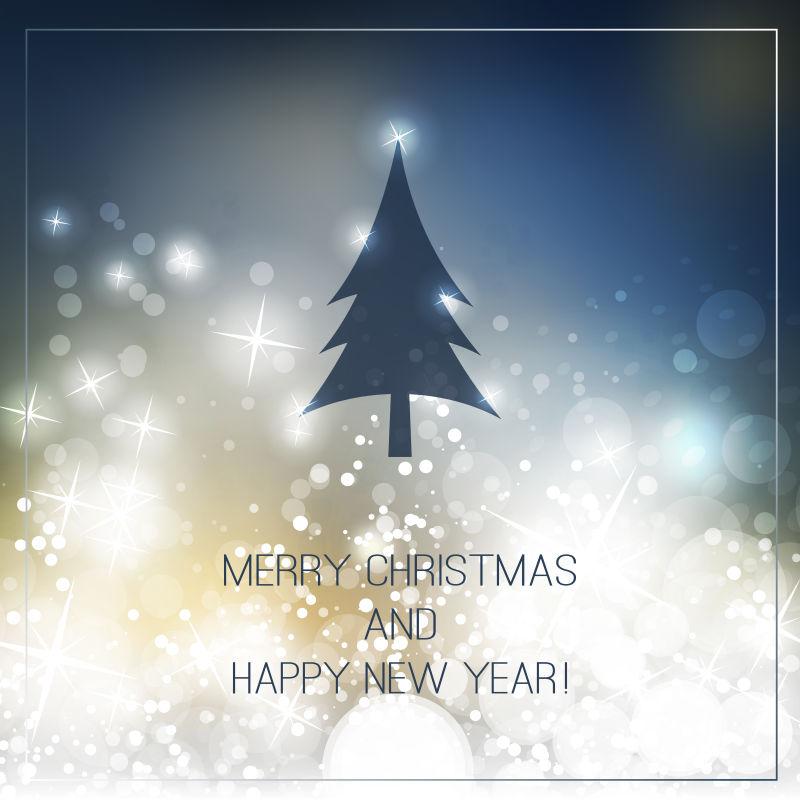 矢量圣诞树贺卡背景设计