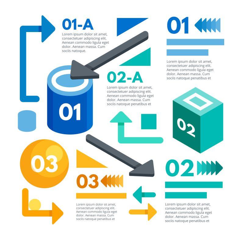 抽象矢量信息统计图表设计图