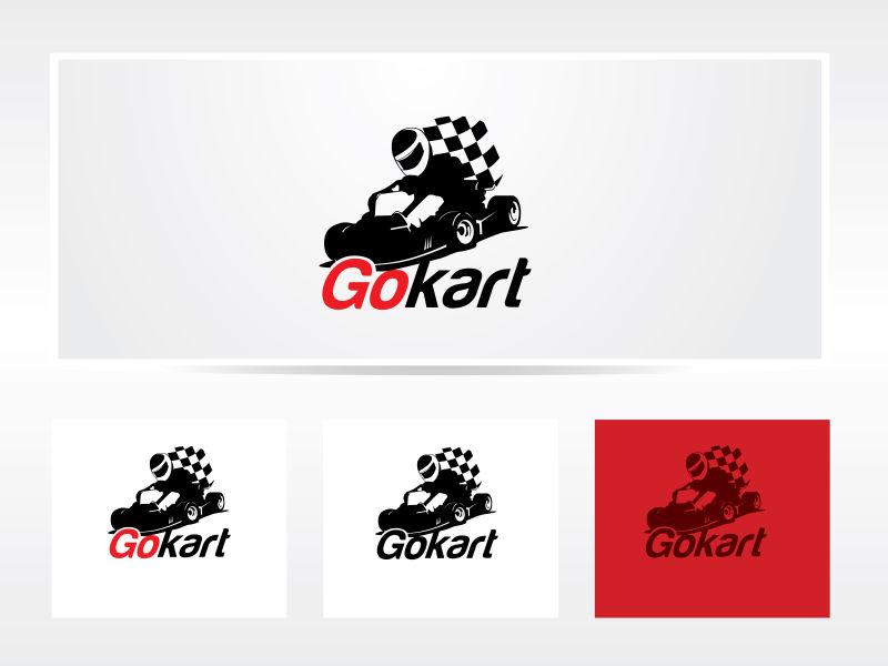 矢量的赛车比赛标志设计