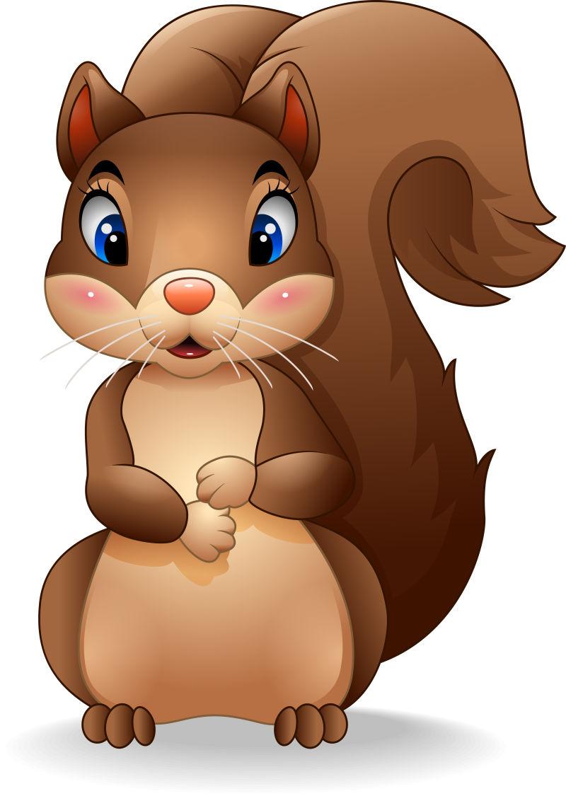 矢量卡通可爱松鼠