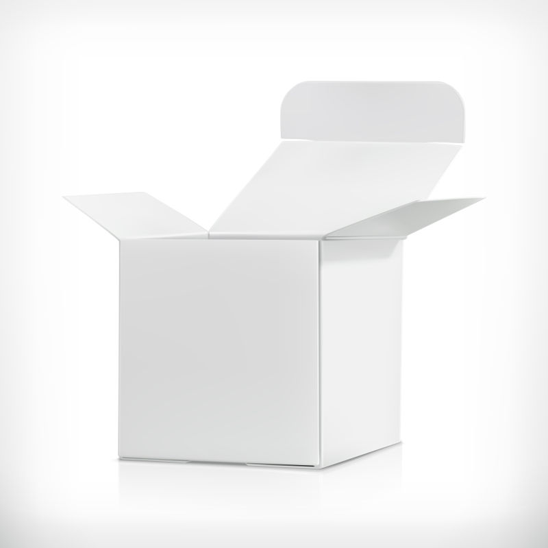 矢量的白色包装纸盒