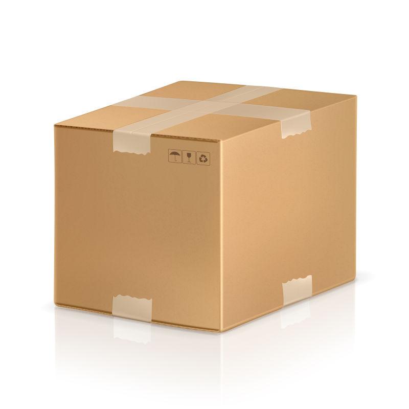 矢量的棕色包装箱