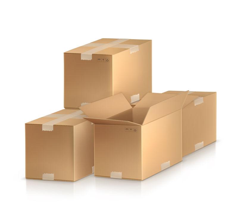 矢量的包装箱插图