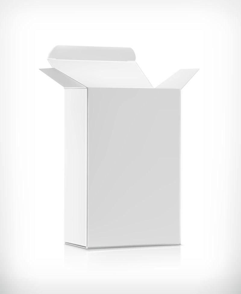 矢量白色纸盒插图