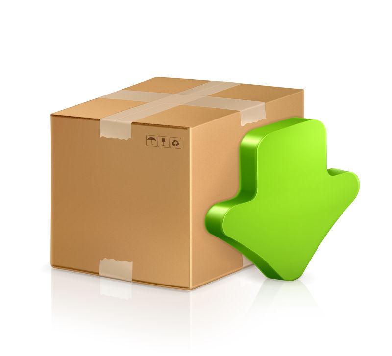 下载图标的纸箱矢量设计