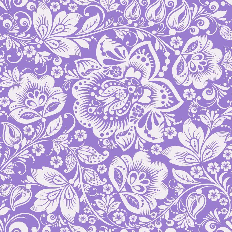 矢量紫色花卉装饰设计移速背景