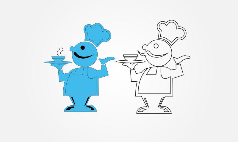 矢量的卡通厨师插图