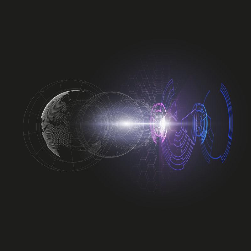 矢量的空间站概念插图