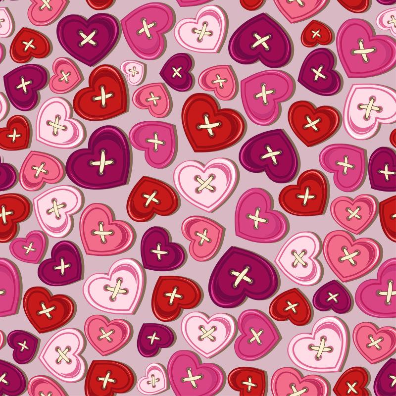 情人节心形纽扣矢量设计