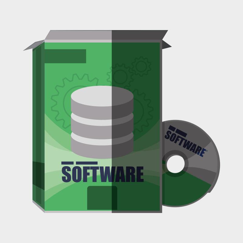 现代软件开发设计矢量