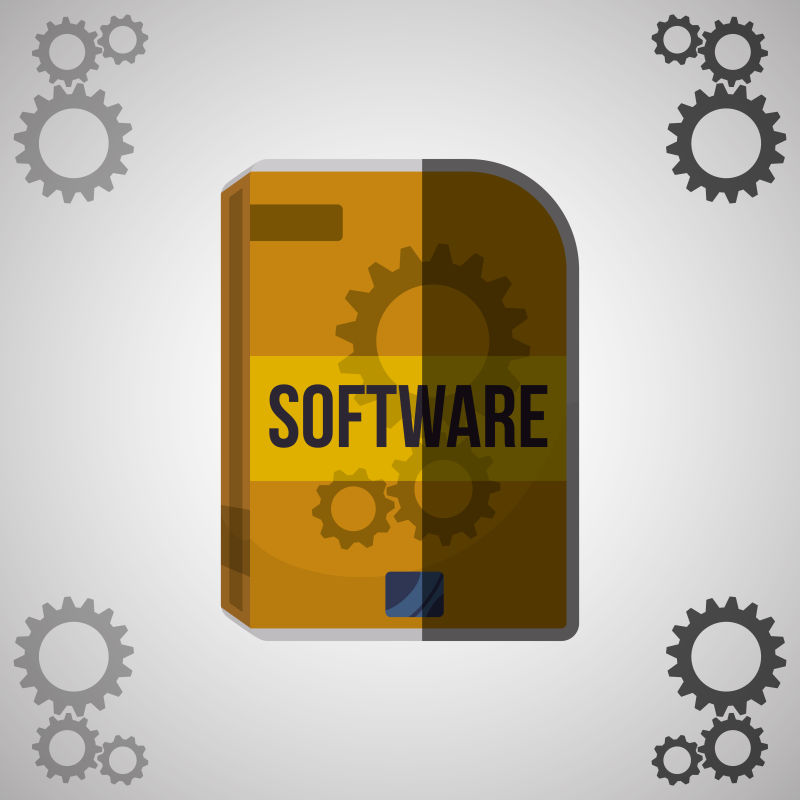 软件开发和设计的概念插图矢量