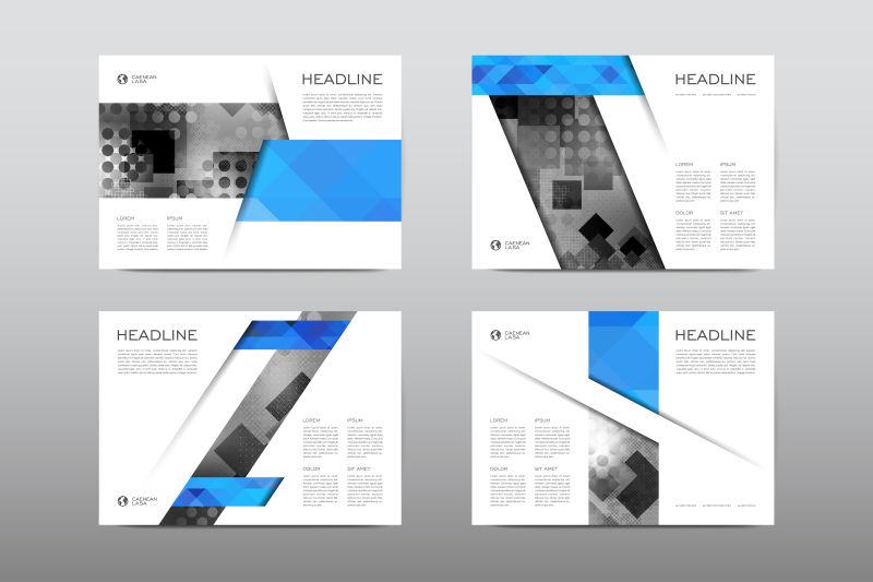 营销工具包演示幻灯片背景设计信息图和图表矢量