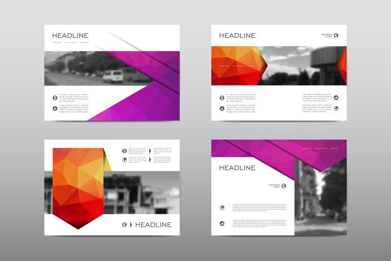 宣传册版面设计矢量范本矢量设计