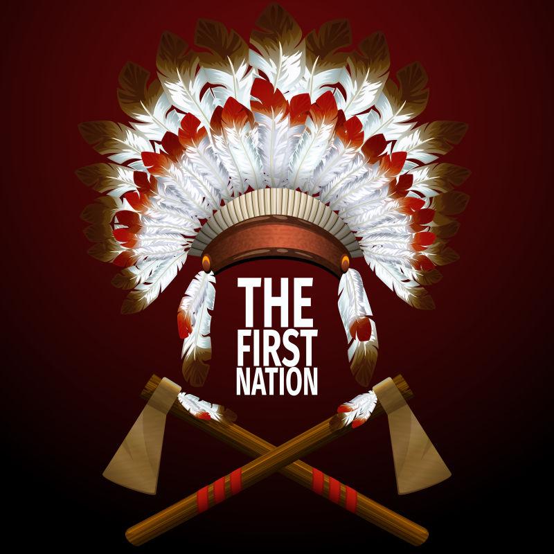 印第安民族装饰矢量设计