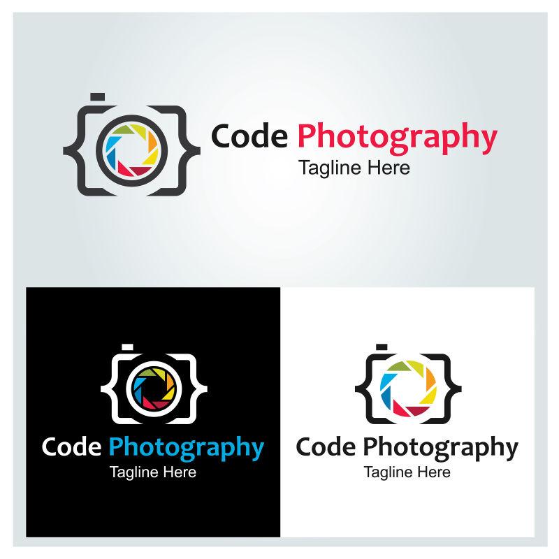 矢量三色摄影标志设计