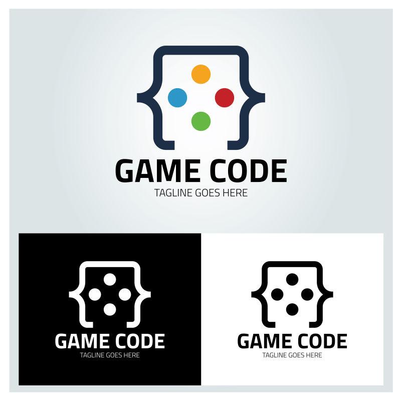 游戏创意代码矢量图