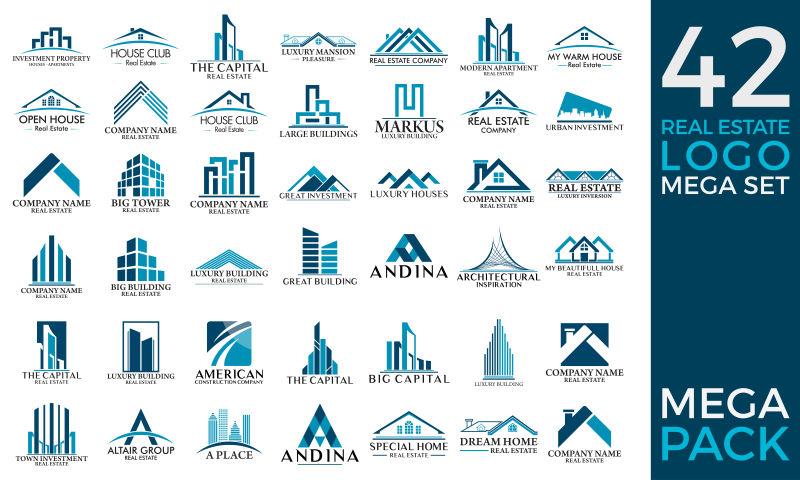 房地产建筑矢量图标