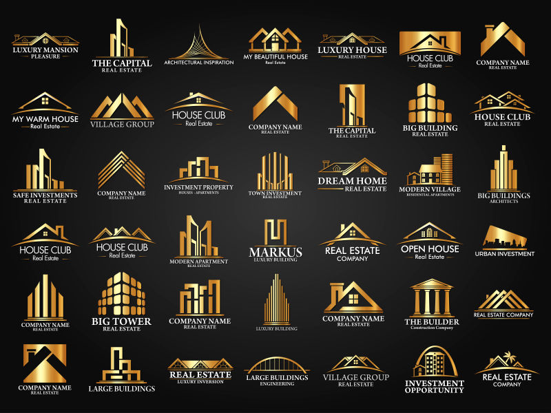 房地产建筑创意矢量图标