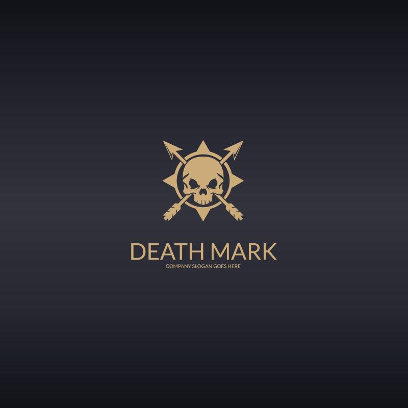 创意死亡logo设计矢量