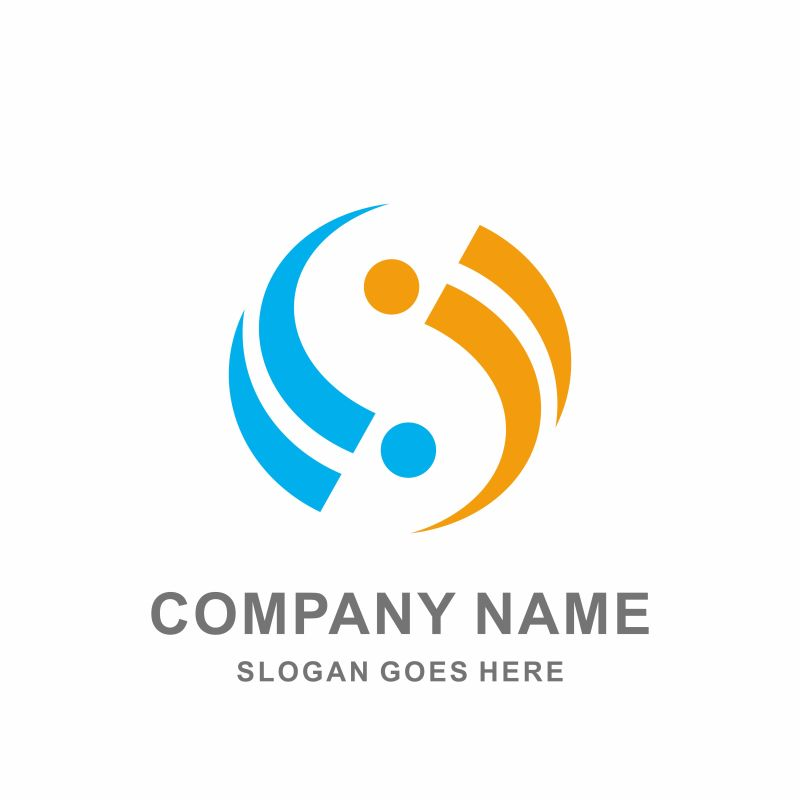 创意漩涡式企业标志矢量设计图