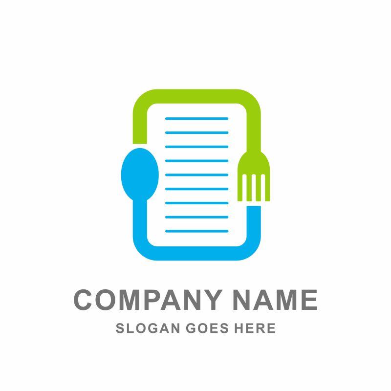 创意菜单标志矢量设计图