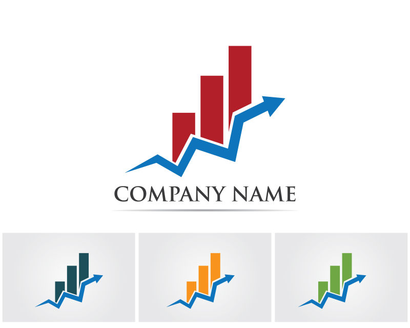 矢量数据趋势logo设计图