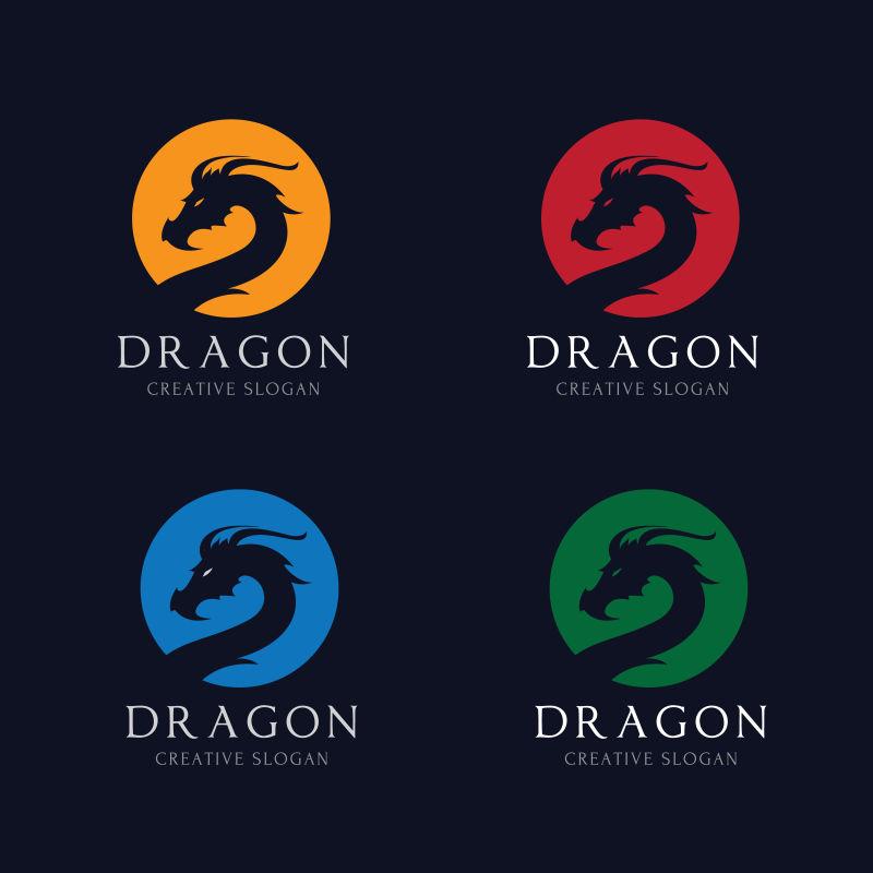龙标动物矢量logo