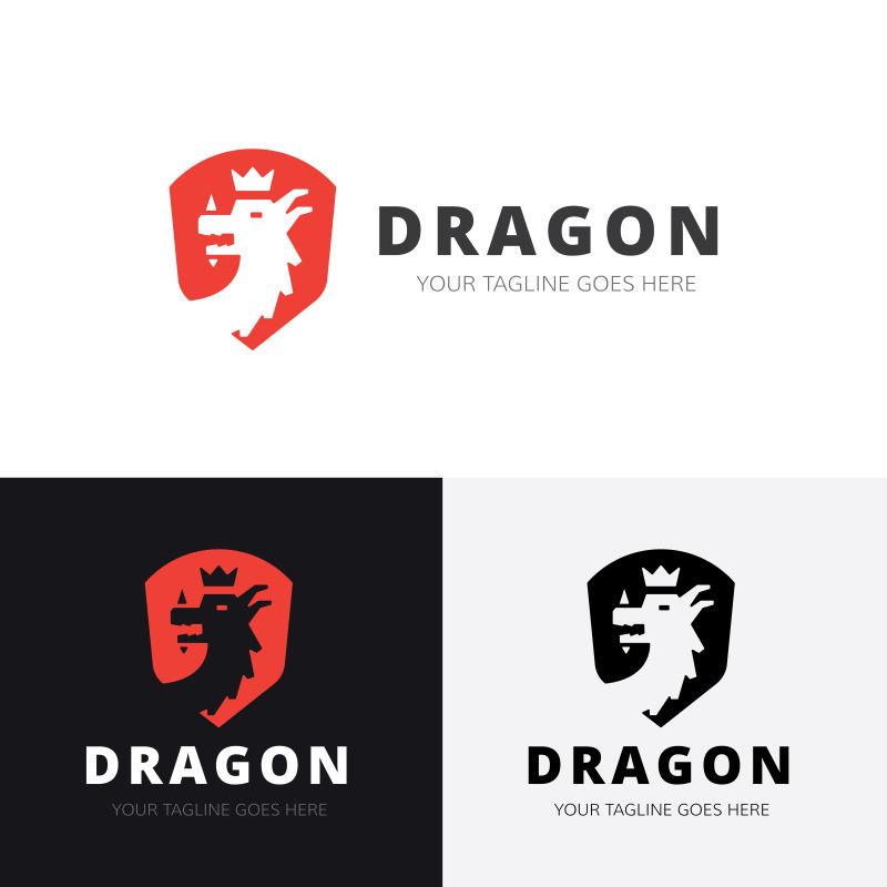 龙动物标志矢量logo