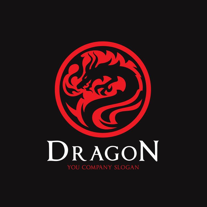 矢量龙标纹身logo