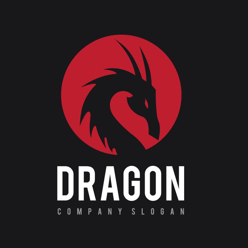 矢量黑色龙logo