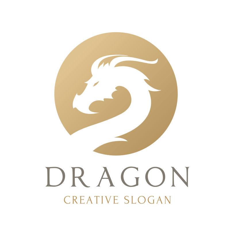 金色龙标矢量logo