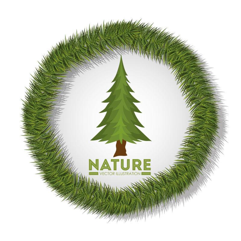绿色生态树矢量设计