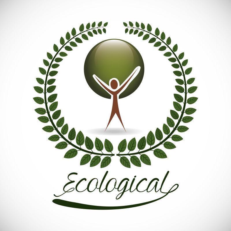 绿色生态产品设计矢量