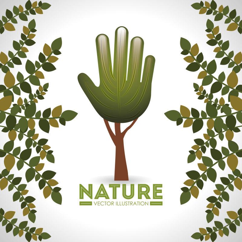自然界生态元素设计矢量