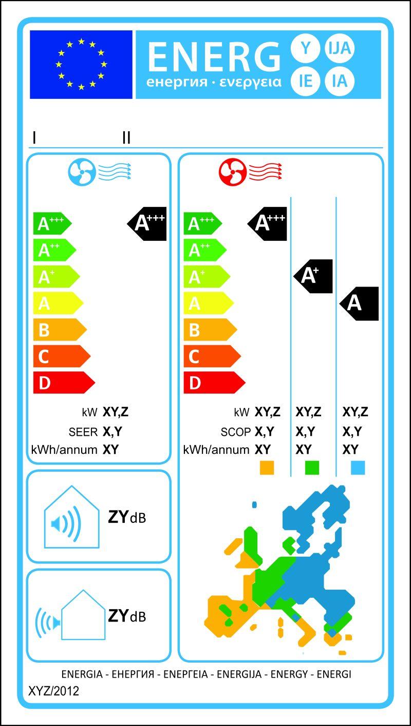 空调新能源等级图矢量标签