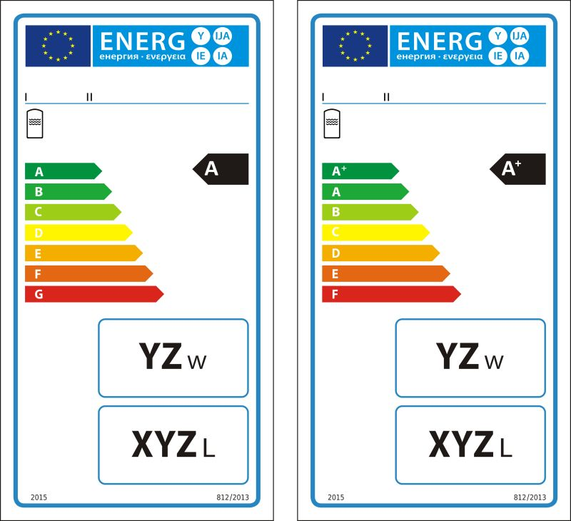 热水储能罐新能源等级图矢量标注