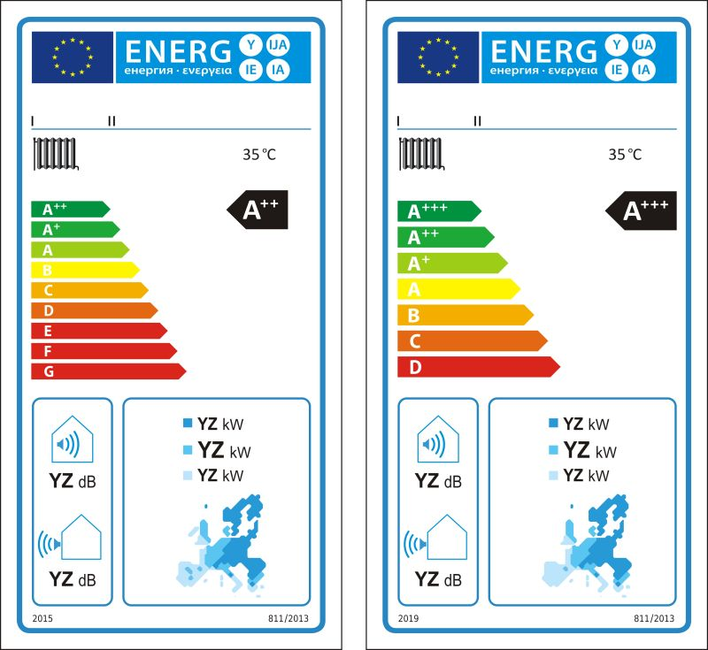 矢量低温热泵新能源等级图标签