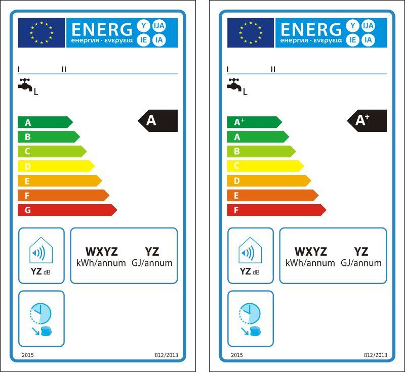 矢量常规热水器新能源等级图标签