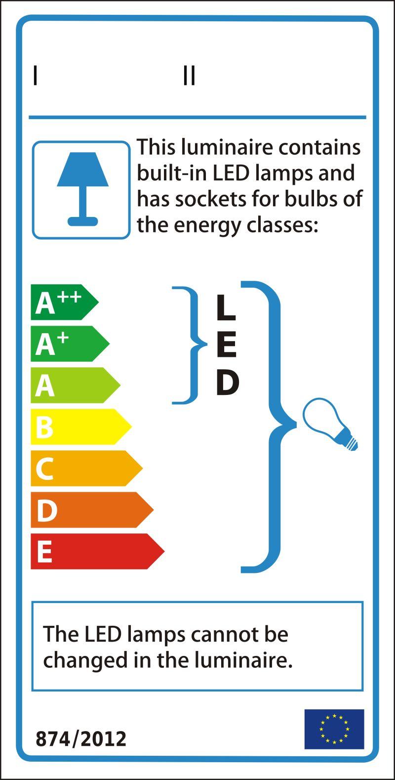 灯具新能源评级图形标签矢量