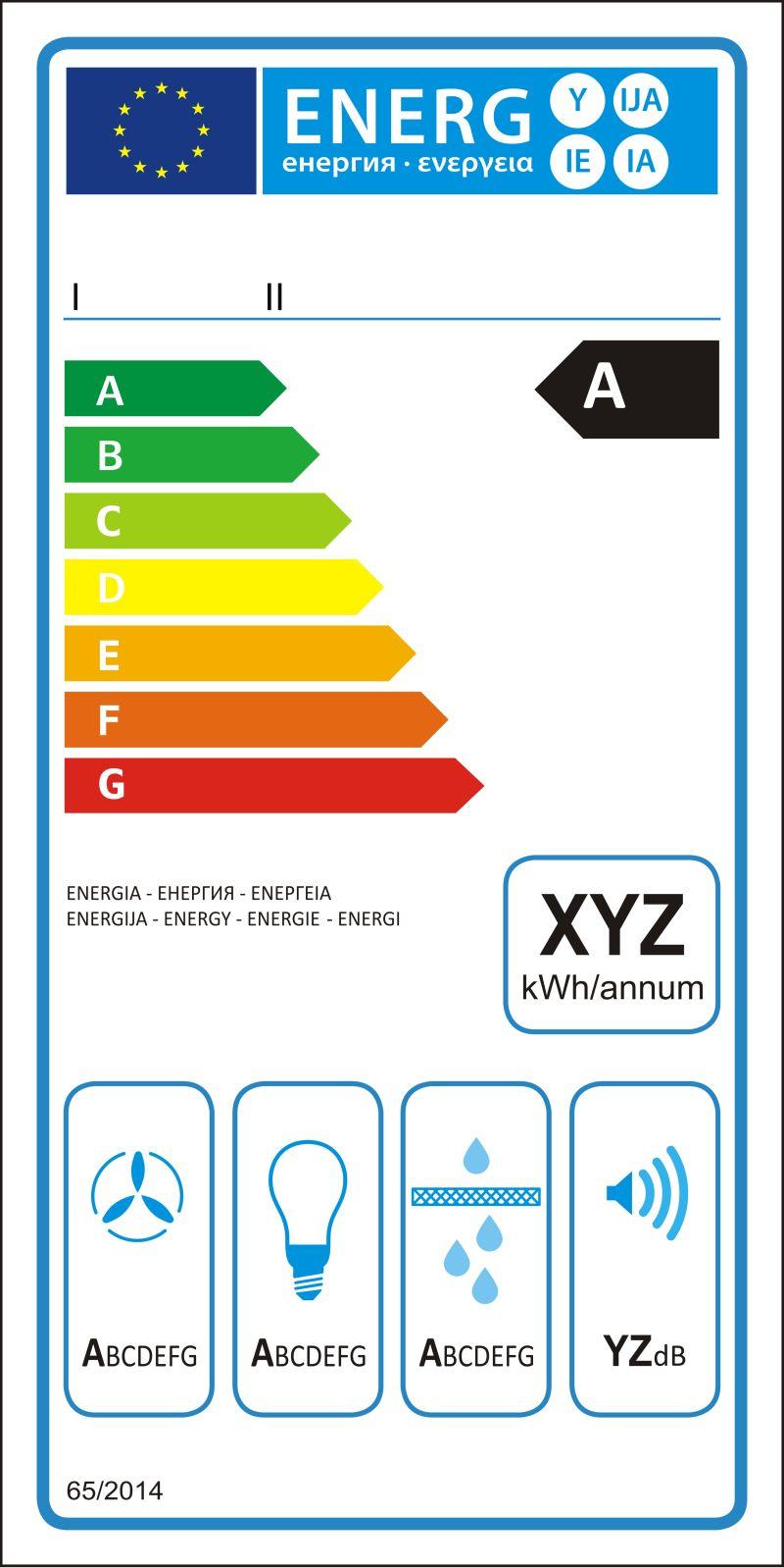 矢量油烟机新能源评级图表标签