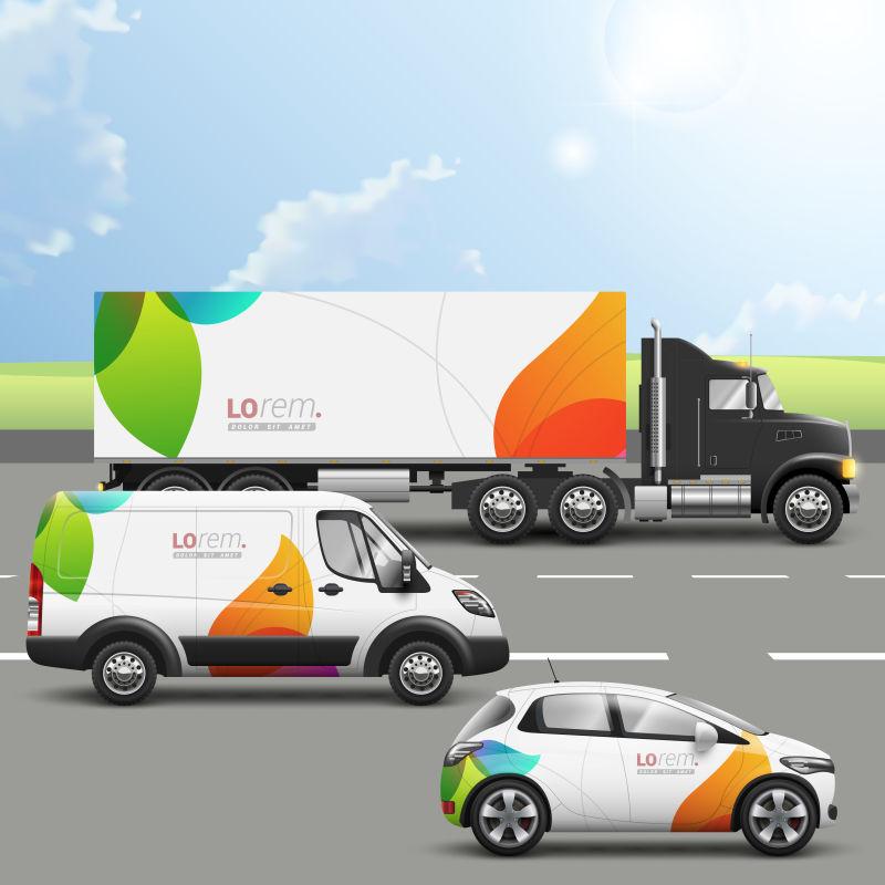 矢量创意交通广告设计